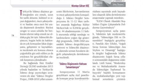 UMRAN DERGİSİNDE 2. İSLAMCI DERGİLER SEMPOZYUMU ELE ALINDI
