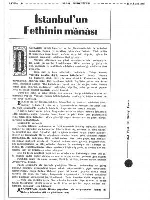 İslam Medeniyeti Dergisi 10. Sayı